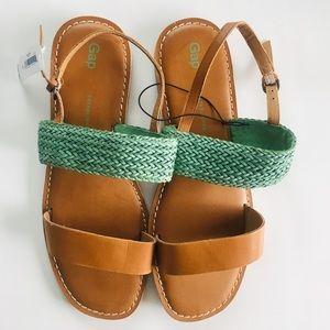 NWT Gap Flat Mint Woven Sandals